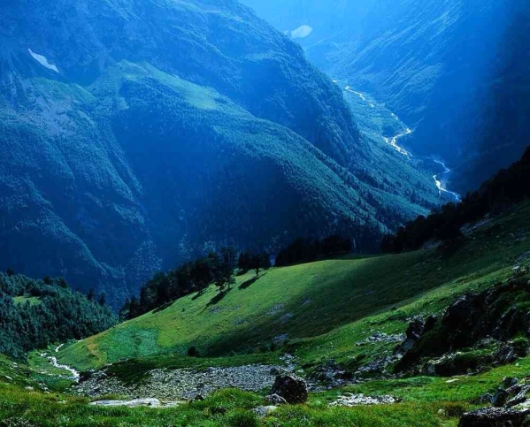 Arkhyz valley in the Caucasus mountains