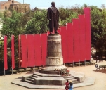 Grozny before war Chechnya Lenin statue