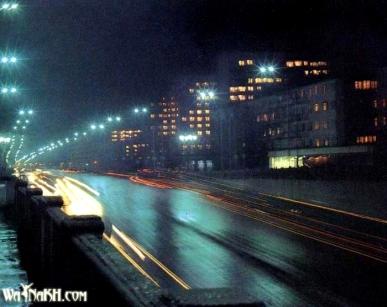Grozny before war night Chechnya North Caucasus
