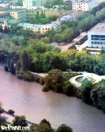 Grozny before war Shunza river Chechnya North Caucasus