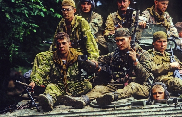 Russian soldiers Chechnya war chechen rebels fighters terrorists North Caucasus