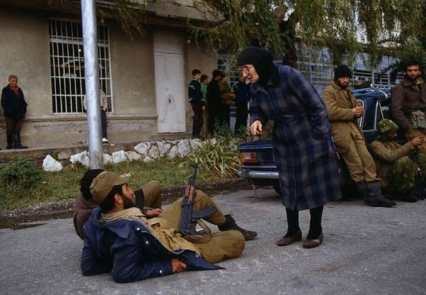 War in Abkhazia. 1992 North Caucasus