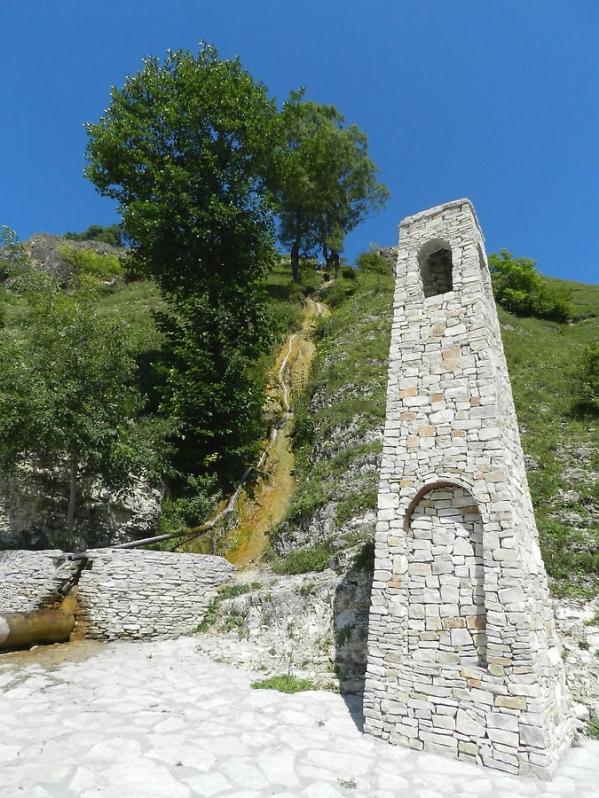 Abrekov Zelimkhan monument in Kharachoy Chechnya