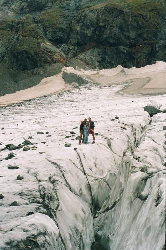 Alibek glacier Karachay-Cherkessia Greater Caucasus mountains Dombay North Caucasus