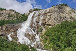 Alibeksky Falls Dombay Karachay-Cherkessia North Caucasus Sochi Olympics 2014mountains