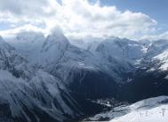 Amanauz valley Dombay North Caucasus mountains Sochi Olympics 2014