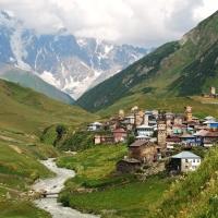 Shkhara mountain and Ushguli - Svaneti, Georgia