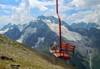 cable car glacier Dombay Karachay-Cherkessia Greater Caucasus mountains North Caucasus Sochi Olympics 2014