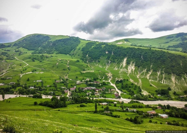 Caucasus mountains Kharachoy village Chechnya landscapes North Caucasus