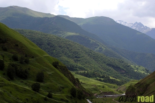 Caucasus mountains river Vedensky Chechnya landscapes