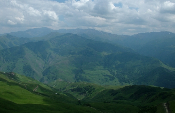 Caucasus mountains Vedensky Chechnya landscapes 1