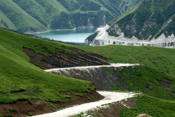 Caucasus mountains Vedensky Chechnya landscapes Kezenoyam lake
