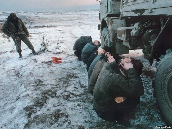 Chechnya Russia war chechen men prisoners genocide North Caucasus