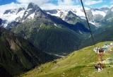 Dombay cable car Greater Caucasus Karachay-Cherkessia mountains North Caucasus