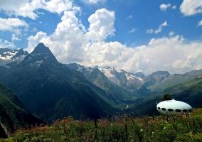 Dombay hotel Karachay-Cherkessia Greater Caucasus mountains North Caucasus