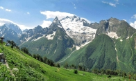 Dombay Karachay-Cherkessia Great Caucasus mountains North Caucasus Sochi Olympics 2014
