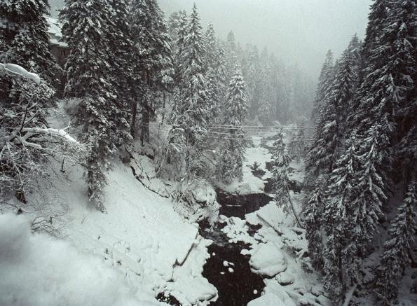 Dombay Murudju river Great Caucasus mountains North Caucasus