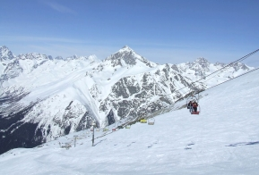 Dombay ski resort winter Caucasus mountains North Caucasus Sochi Olympics 2014