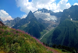 Dombay valley Karachay-Cherkessia Great Caucasus mountains North Caucasus