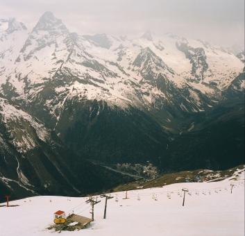 Dombay valley Russia Caucasus mountains North Caucasus Sochi Olympics 2014