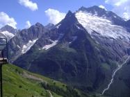 Dombay valley Russia Karachay-Cherkessia North Caucasus landscape mountains