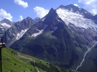 Dombay valley Russia Karachay-Cherkessia North Caucasus landscape mountains