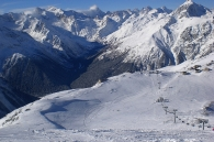 Dombay winter Karachay-Cherkessia Greater Caucasus mountains Sochi Olympics 2014