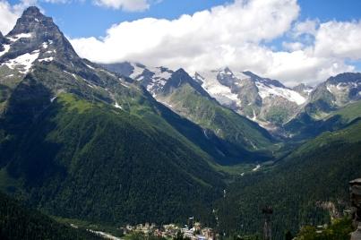 gorge Alibek Dombay Greater Caucasus mountains North Caucasus