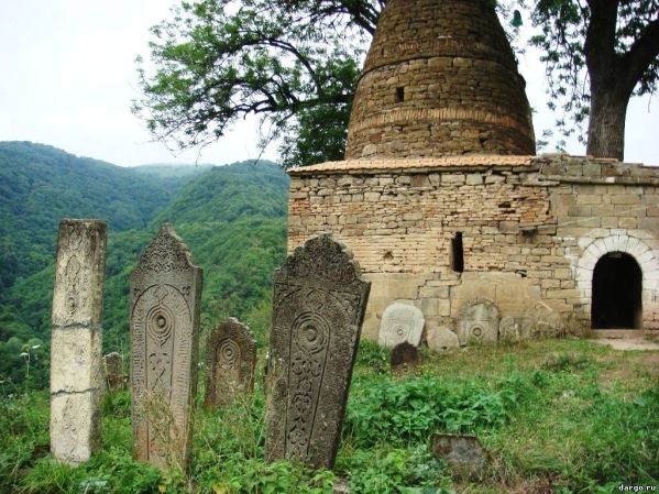 Kala Koreysh  tombstones n Dagestan North Caucasus