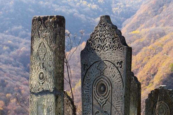 Kala Koreysh tombstones Dagestan North Caucasus islam