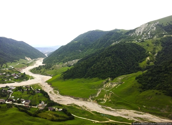 Kharachoy village Chechnya North Caucasus mountains