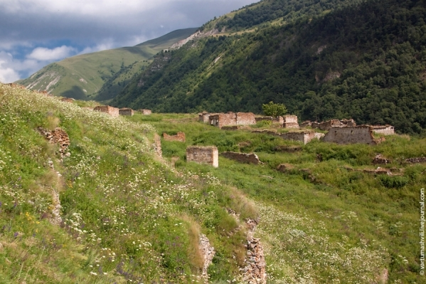 Khoi village ruins Chechnya Caucasus mountains