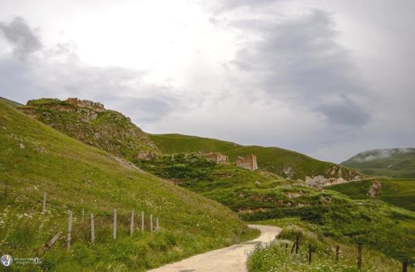 Makazhoy ruins Kazenoy fortress Chechnya North Caucasus