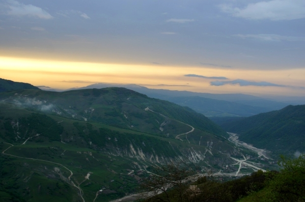 North Caucasus mountains Kharachoy village Chechnya North Caucasus