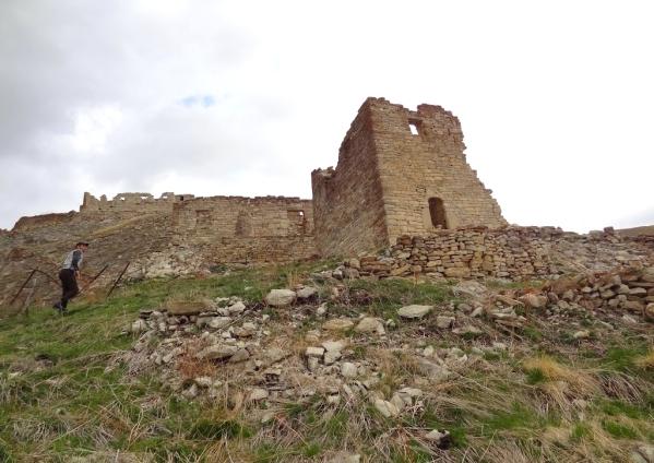 ruins Kazenoy fortress Chechnya Caucasus