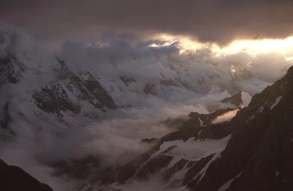 Caucasus mountains aerial Mizhirgi Bezengi kabardino-Balkaria North Caucasus