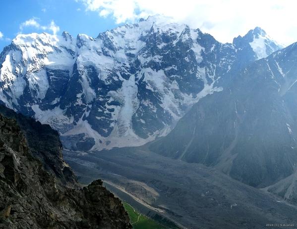 Caucasus mountains Mizhirgi glacier Bezengi kabardino-Balkaria North Caucasus 1