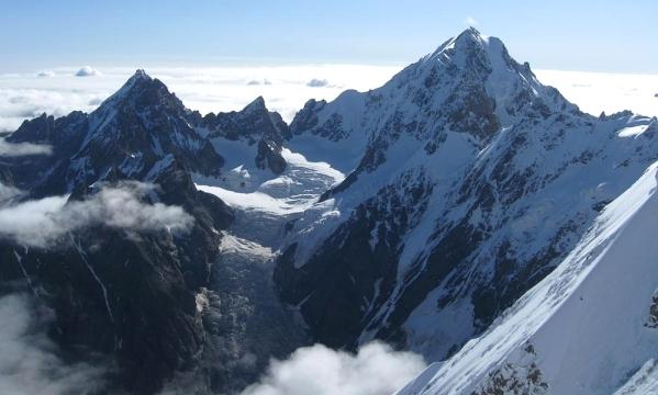 Caucasus mountains Mizhirgi glacier Bezengi kabardino-Balkaria North Caucasus