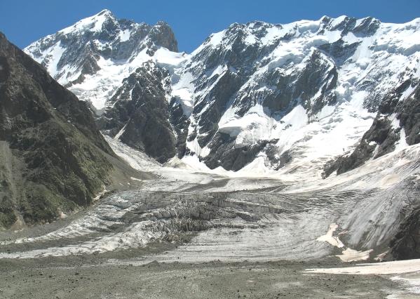 Caucasus mountains Mizhirgi glacier kabardino-Balkaria North Caucasus