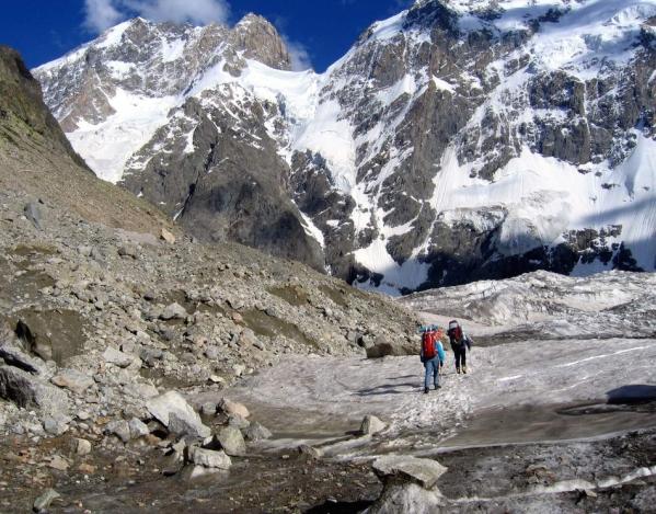 Caucasus mountains Mizhirgi glaciers Bezengi Kabardino-Balkaria North Caucasus