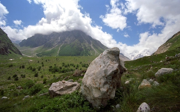 Caucasus mountains Mizhirgi valley Bezengi Kabardino-Balkaria North Caucasus