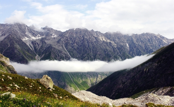 Caucasus mountains Mizhirgi valley Kabardino-Balkaria North Caucasus beautiful scenery
