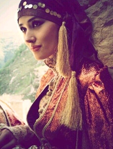 Dagestan women traditional costume clothing Dagestan Caucasus people