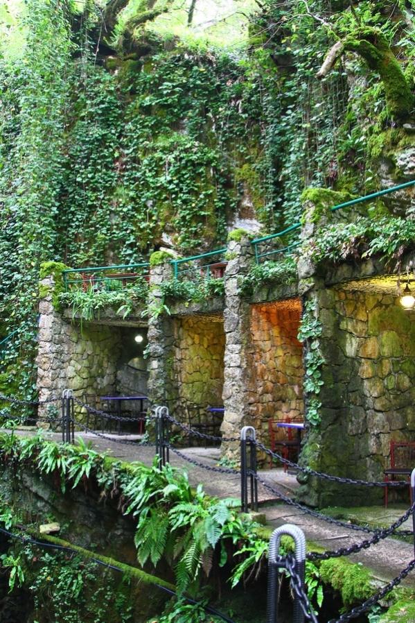 Kodori gorge cafe Abkhazia Georgia Caucasus mountains