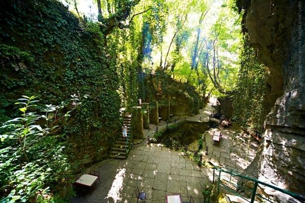 Kodori gorge cafe Abkhazia Georgia North Caucasus