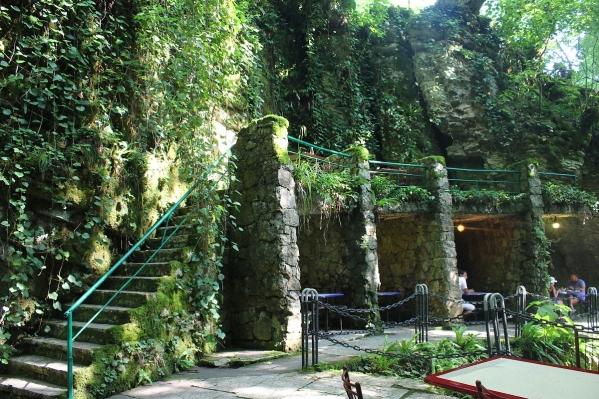 Kodori gorge restaurant Abkhazia Georgia Caucasus mountains