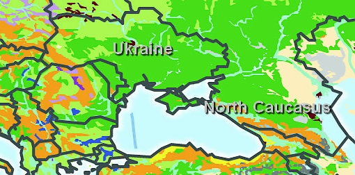 soil fertility map europe ukraine north caucasus
