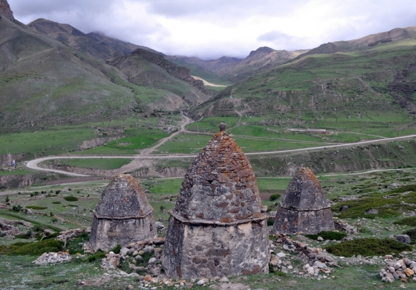 beautiful scenery Caucasus mountains Eltyubyu City of the Dead Chegem valley North Caucasus Kabardino-Balkaria 2