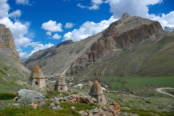 beautiful scenery Caucasus mountains Eltyubyu City of the Dead Chegem valley North Caucasus