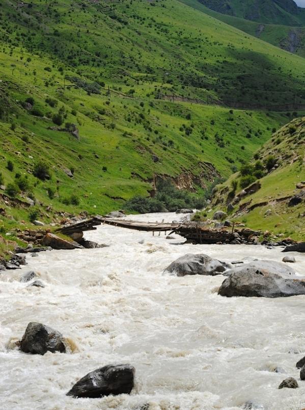 Caucasus mountains Eltyubyu Chegem river North Caucasus Kabardino-Balkaria